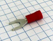 Vidla izolovaná 4,3mm cervená