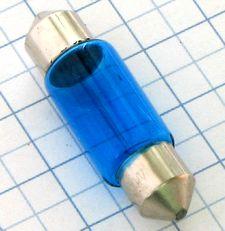 A-Žiarovka 12V 5W C5W sufitka - modrá