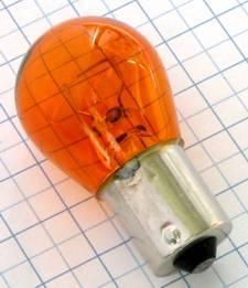 A-Žiarovka 12V 21W BA15s oranžová neštandard