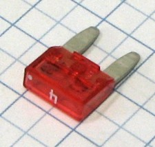 Mini nožová poistka 4A - ružová