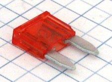 Mini nožová poistka 10A - červená