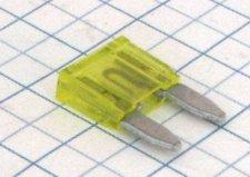 Mini nožová poistka 20A - žltá