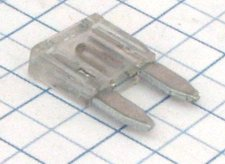 Mini nožová poistka 25A - biela