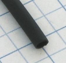 Zmršťovacia izolačná bužírka PBF Čierna 2,4/1,2mm - 1m