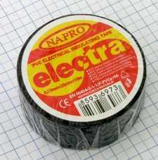 Izolačná páska PVC 25mm x 10m - čierna