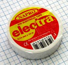 Elektro izolačná páska PVC 13mm X 10m - biela