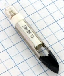 Liliput Tlejivka 220V 1,5mA T5,5 5x30mm NEON signálna telefónna T 53 N 220 P