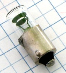 Tlejivka signalizačná 220V - 230V 1,9mA BA9S F 75839 (119860) 10x28mm - Zelená