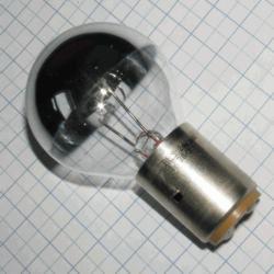 Žiarovka zdravotnícka 24V 60W BA20D 40x70mm H55025 strieborná so zrkadlom