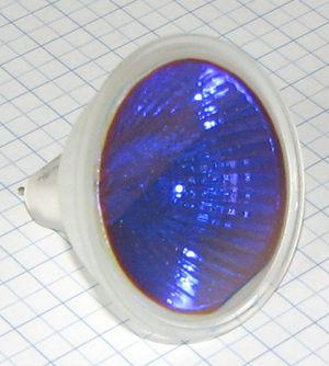 Žiarovka 12V 50W GU5,3 modrá MR16