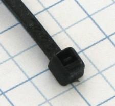 Páska viazacia 200 X 4,8mm čierna-100ks- balenie