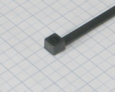 Páska viazacia 200 X 3,6mm čierna-100ks-balenie