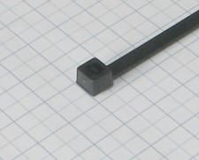 Páska viazacia  370 X 3,5mm čierna-100ks-balenie