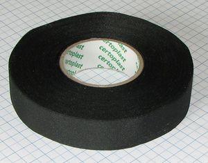 Textilná izolačná páska 19mm X 10m - čierna ( lepiaca )