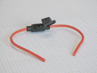 Vodotesný držiak nožovej UNI auto poistky s vodičom 2,5 mm2 - max. 20A