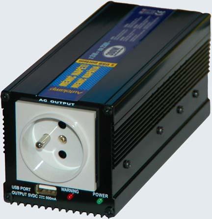 Menič napätia  12V/230V 300W + USB port