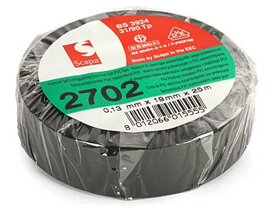 Izolačná páska PVC 19mm x 20m - čierna - Scapa
