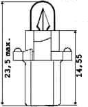 A-Žiarovka 12V 2W B8,7d -plastická pätica