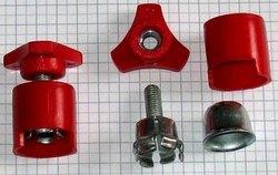 Auto svorka batériová M8 s plastom  + červená