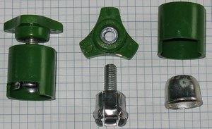 Auto svorka batériová M8 s plastom  - zelená