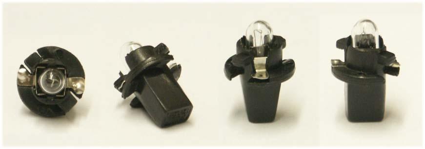 Žiarovka 12V 1,2W BAX10y AUTOLAMP - plastická pätica do prístrojovky
