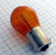 Žiarovka 24V 21W PY21W Bau15s - oranžová