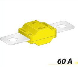 Autopoistka MIDI 60A žltá 30mm vzdialenosť skrutiek
