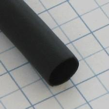 Zmršťovacia izolačná bužírka IAKT Čierna 6/2mm - 1,2m s lepidlom