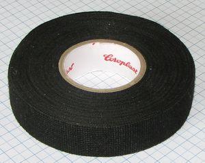 Textilná izolačná páska 19mm X 10m - čierna (chlpatá) netkaná