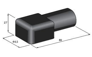 Kryt izolačný na svorku - čierny