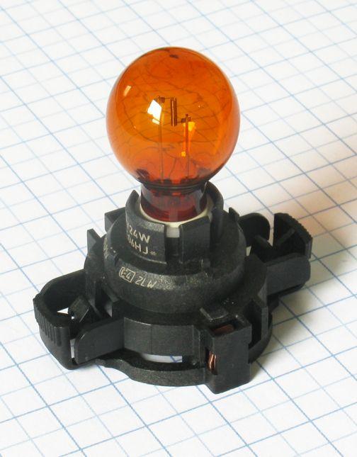 Žiarovka 12V 24W PGU20/4 - HiPerVision PY24W oranžová