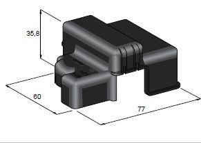 Kryt izolačný na svorku 3-skrutkovú - čierny