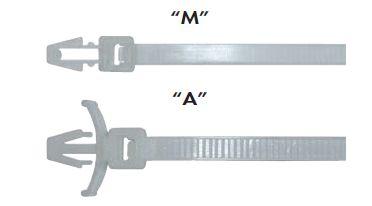 """Páska viaz. do otvoru 150 X 3,6mm biela """"M""""- 100ks- bal."""