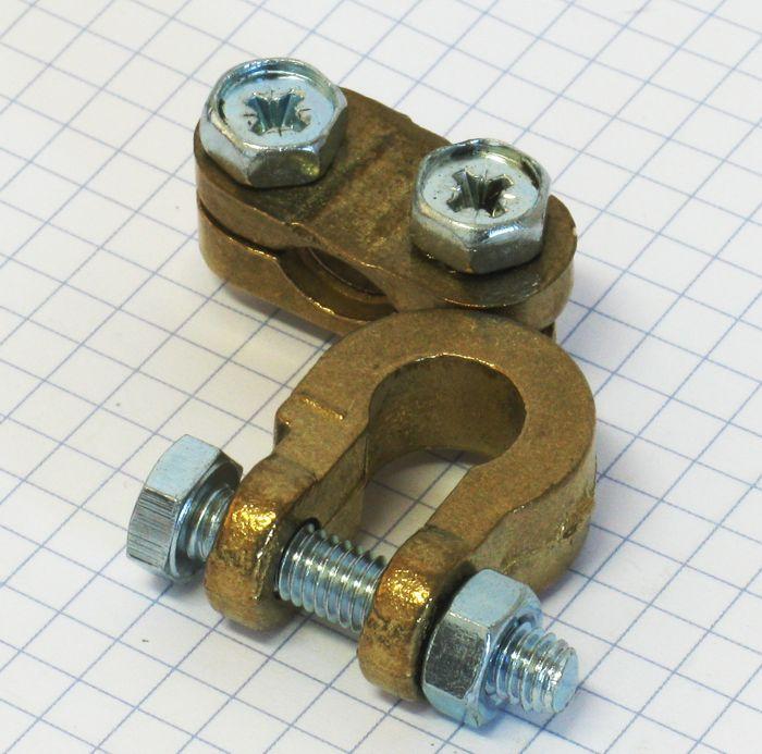 Auto svorka batériová  mosadzná mínusová - malá 11mm