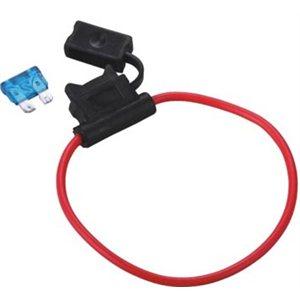 Vodotesný držiak nožovej UNI auto poistky s vodičom 1,5 mm2 - max. 12A