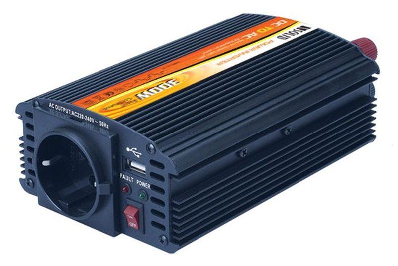 Menič napätia  24V USB na 230V/300/ 600W-IN09