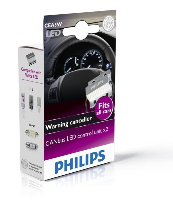 CANbus LED Control PHILIPS 12V 5W eliminator Set 2ks