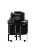 Objímka žiarovky T5 Bax10y  (pätica W2x4,6d)