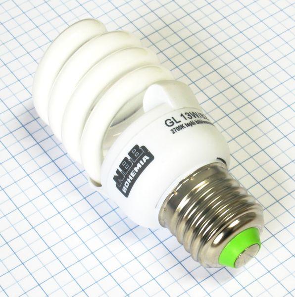 Žiarovka úsporná E27 55W (11W) 230V Super GL-S TWIST NBB teplá biela