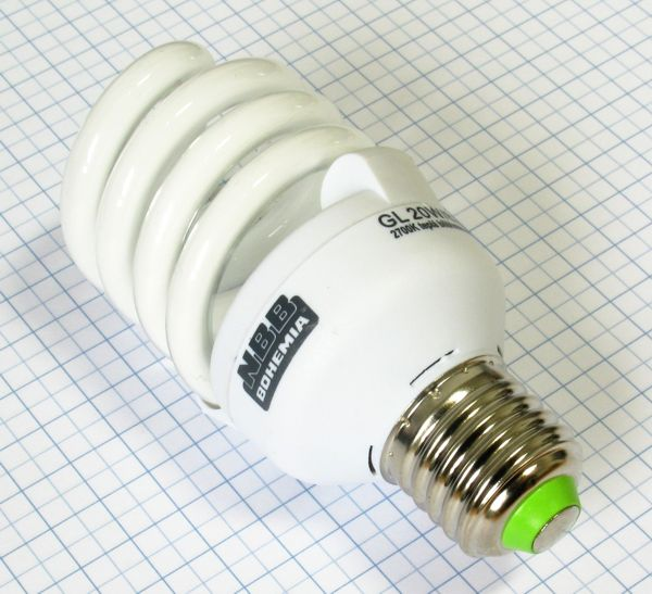 Žiarovka úsporná E27 95W (20W) 230V Super GL-S TWIST NBB teplá biela