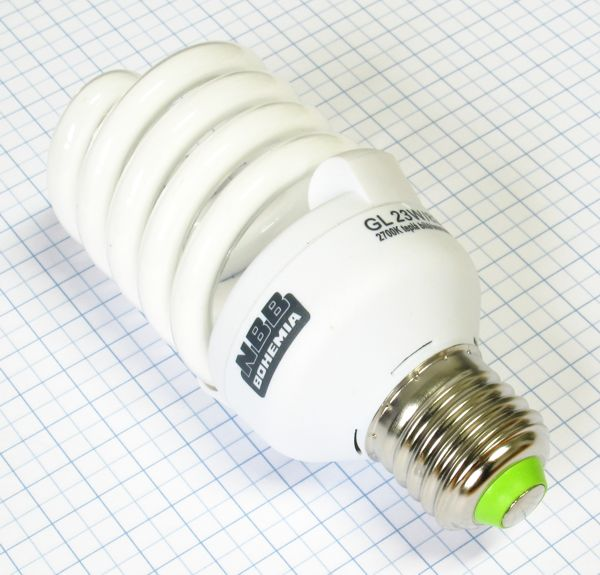 Žiarovka úsporná E27 110W (23W) 230V Super GL-S TWIST NBB teplá biela