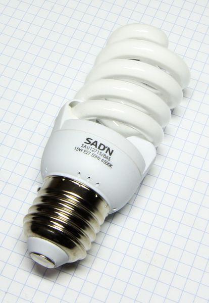 Žiarovka E27 70W (15W) 230V Mini špirála studená biela 6500K