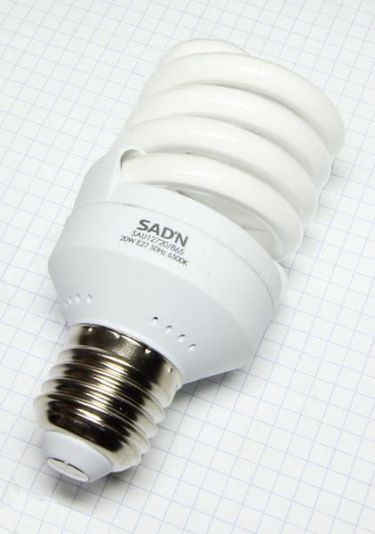 Žiarovka E27 90W (20W) 230V Mini špirála studená biela 6500K