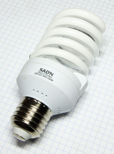 Žiarovka E27 125W (25W) 230V Mini špirála studená biela 6500K