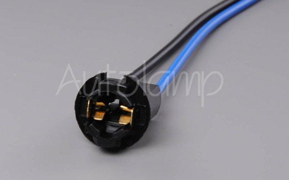 Držiak žiarovky W2,1X9,5d T10/T13/T15 plastový čierny
